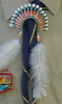 Thread: Beaded Indian Headdress Neckerchief Slide